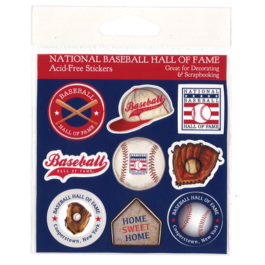 Baseball Hall of Fame 9 Piece Sticker Set