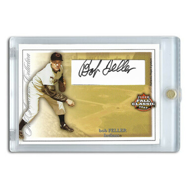 Bob Feller Autographed Card 2003 Fleer Fall Classic Ltd Ed of 300