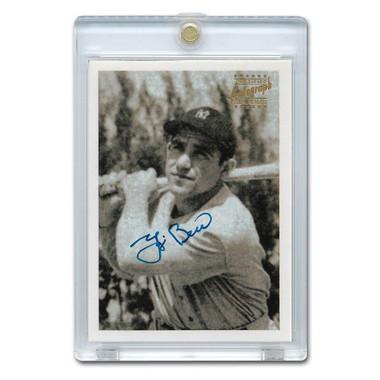 Yogi Berra Autographed Card 1999 Topps Stars Rookie Reprints # 3