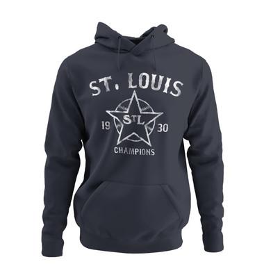 Unisex Teambrown Champions 1930 St. Louis Stars Premium Navy Hooded Sweatshirt