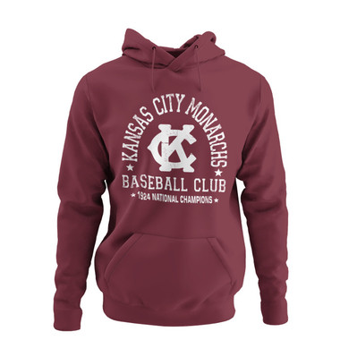 Unisex Teambrown Champions 1924 Kansas City Monarchs Premium Maroon Hooded Sweatshirt