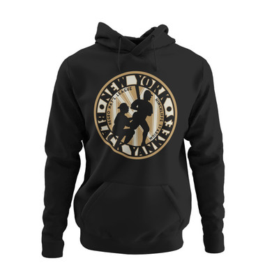 Unisex Teambrown Negro National League New York Black Yankees Premium Black Hooded Sweatshirt