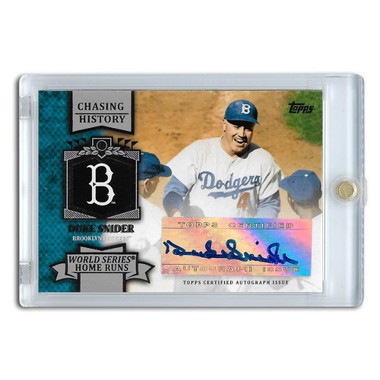 Duke Snider Autographed Card 2013 Topps Chasing History # CHA-DS