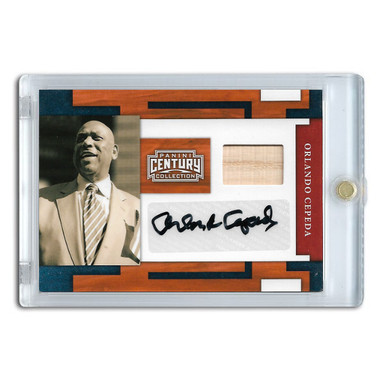 Orlando Cepeda Autographed Card 2010 Panini Century Collection Ltd Ed of 50