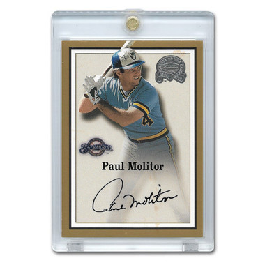 Paul Molitor Autographed Card 2000 Fleer Greats of the Game