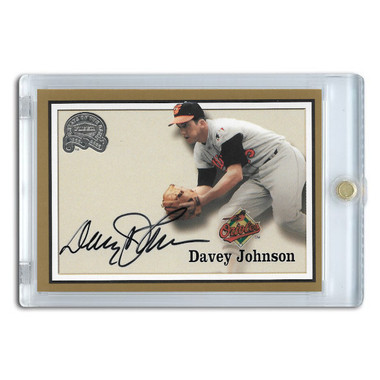 Davey Johnson Autographed Card 2000 Fleer Greats of the Game