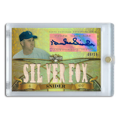 Duke Snider Autographed Card 2013 Topps Triple Threads Relic #DSN2 Ltd Ed of 18