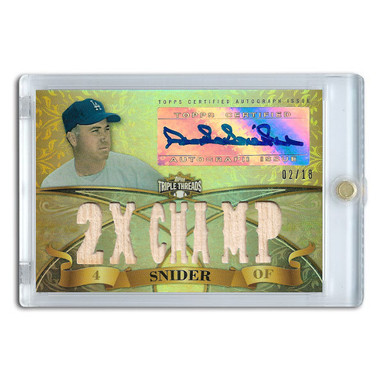 Duke Snider Autographed Card 2013 Topps Triple Threads Relic #DSN3 Ltd Ed of 18