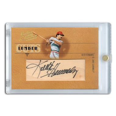 Keith Hernandez Autographed Card 2005 Donruss Leather & Lumber Cuts Ltd Ed of 128