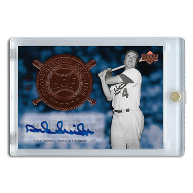 Duke Snider Autographed Card 2005 Upper Deck Class of Cooperstown Ltd Ed of 25