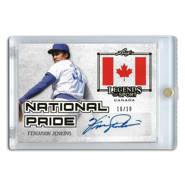 Fergie Jenkins Autographed Card 2015 Leaf Legends of Sports National Pride Ltd Ed of 10