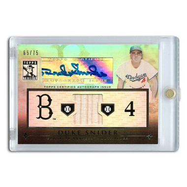 Duke Snider Autographed Card 2010 Topps Tribute Ltd Ed of 75
