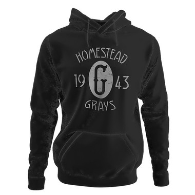 Unisex Teambrown Champions 1943 Homestead Grays Premium Black Hooded Sweatshirt