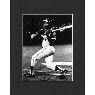 Matted 8x10 Photo- Hank Aaron 715th Homerun