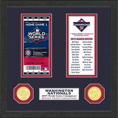 Highland Mint Washington Nationals Framed World Series Replica Ticket Collection