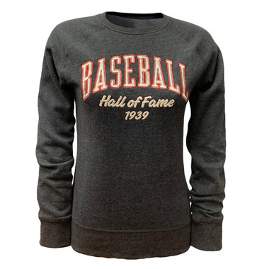 Women's Baseball Hall of Fame Dark Grey Heather Classic Crew