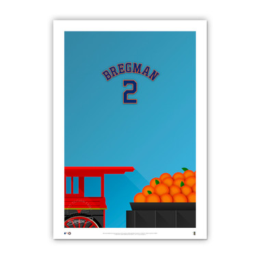 Alex Bregman Minimalist Minute Maid Park Player Series 14 x 20 Fine Art Print by artist S. Preston Ltd Ed of 50