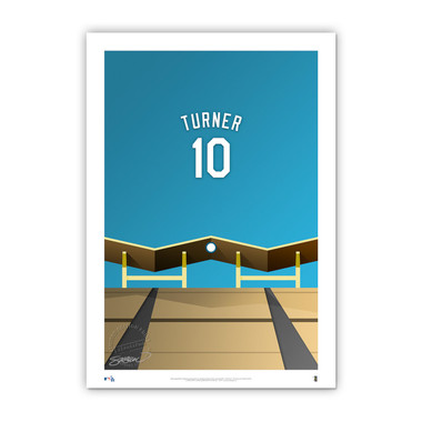 Justin Turner Minimalist Dodger Stadium Player Series 14 x 20 Fine Art Print by artist S. Preston Ltd Ed of 50