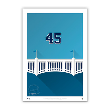 Gerrit Cole Minimalist Yankee Stadium Player Series 14 x 20 Fine Art Print by artist S. Preston Ltd Ed of 50
