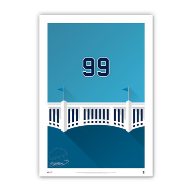 Aaron Judge Minimalist Yankee Stadium Player Series 14 x 20 Fine Art Print by artist S. Preston Ltd Ed of 50