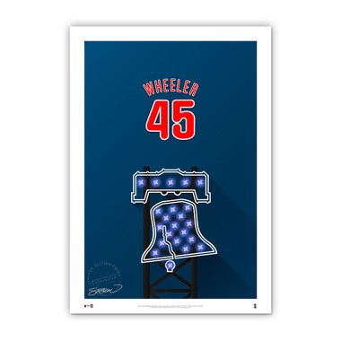 Zack Wheeler Minimalist Citizens Bank Park Player Series 14 x 20 Fine Art Print by artist S. Preston Ltd Ed of 50