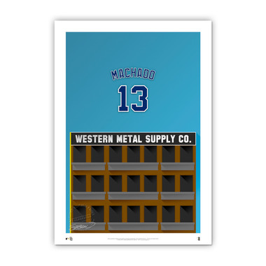 Manny Machado Minimalist Petco Park Player Series 14 x 20 Fine Art Print by artist S. Preston Ltd Ed of 50