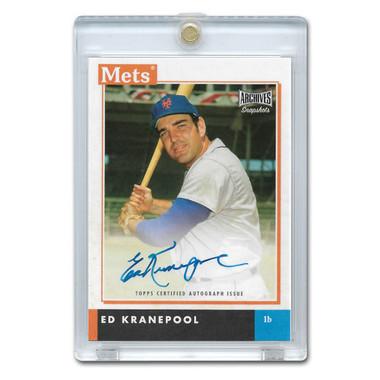 Ed Kranepool Autographed Card 2020 Topps Archives Snapshots # AS-EK