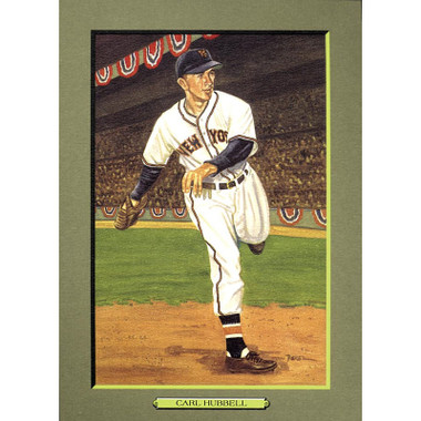 Carl Hubbell Perez-Steele Hall of Fame Great Moments Limited Edition Jumbo Postcard # 35