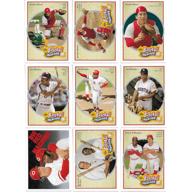 Johnny Bench & Joe Morgan 1992 Upper Deck Heroes 9 Card Baseball Set