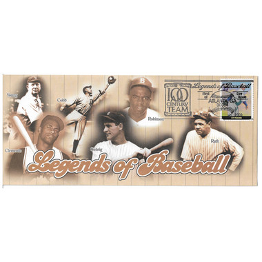 Cy Young Legends of Baseball Stamp First Day Cover July 6, 2000