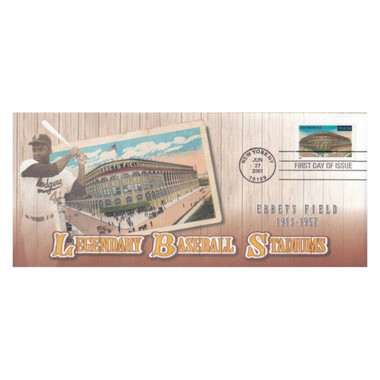 Ebbets Field Legendary Baseball Stadiums Stamp First Day Cover June 27, 2001