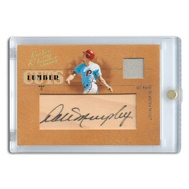 Dale Murphy Autographed Card 2005 Donruss Leather & Lumber Cuts Ltd Ed of 96