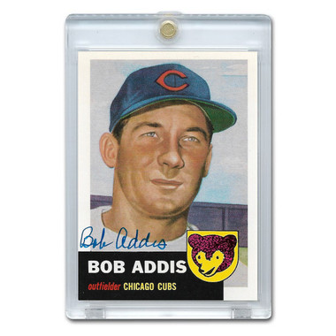 Bob Addis Autographed Card 1991 Topps Archives '53 # 157 (JSA-47)
