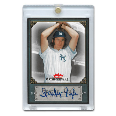 Sparky Lyle Autographed Card 2006 Fleer Greats of the Game