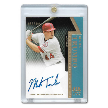 Mark Trumbo Autographed Card 2011 Topps Tier One On The Rise Ltd Ed of 399