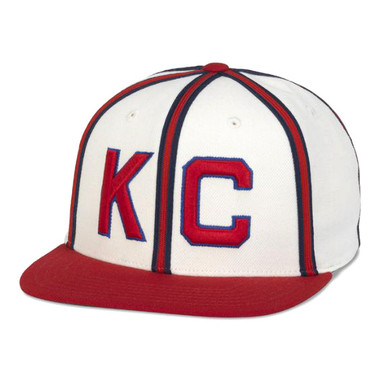 Men's American Needle Kansas City Monarchs White Pinstripe Cooperstown Snapback Cap