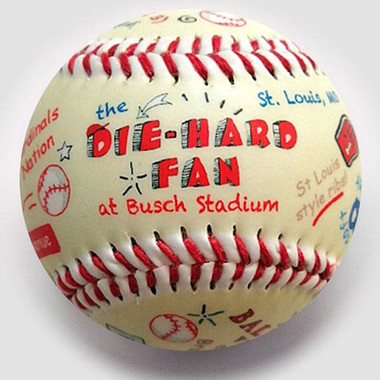 Die-Hard Fan at Busch Stadium Unforgettaballs Limited Commemorative Baseball with Lucite Gift Box