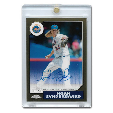 Noah Syndergaard Autographed Card 2017 Topps Chrome '87 Topps Ltd Ed of 50