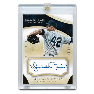 Mariano Rivera Autographed Card 2014 Panini Immaculate Autographs Ltd Ed of 15