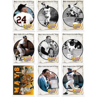 Willie Mays 1993 Upper Deck Heroes 9 Card Baseball Set
