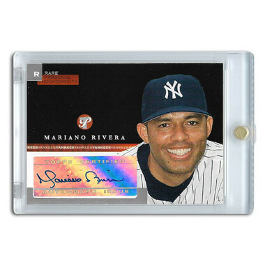 Mariano Rivera Autographed Card 2005 Topps Pristine Personal Endorsements Ltd Ed of 97