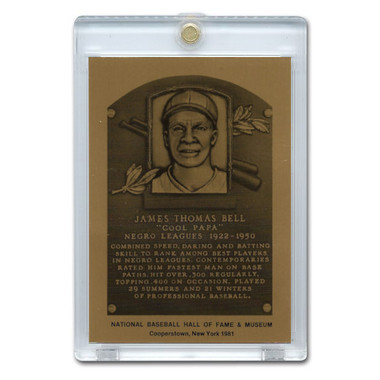 Cool Papa Bell 1981 Hall of Fame Metallic Plaque Card
