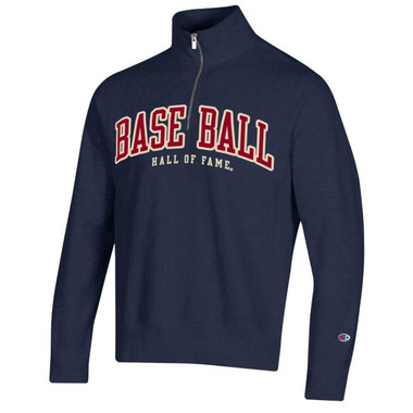 Men's Champion Baseball Hall of Fame Navy Reverse Weave ¼ Zip
