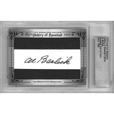 Al Barlick Autographed Card 2014 Leaf History of Baseball Cuts