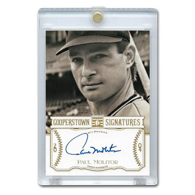 Paul Molitor Autographed Card 2013 Panini Cooperstown Signatures Ltd Ed 490