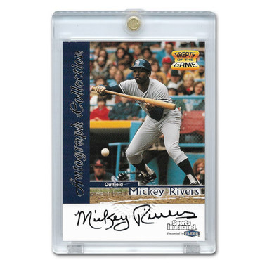 Mickey Rivers Autographed Card 1999 Fleer Sports Illustrated Greats