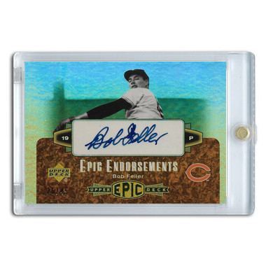 Bob Feller Autographed Card 2006 Upper Deck Epic Endorsements Ltd Ed of 45