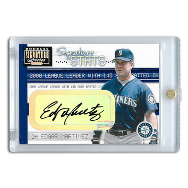 Edgar Martinez Autographed Card 2001 Donruss Signature Signature Stats Ltd Ed of 145