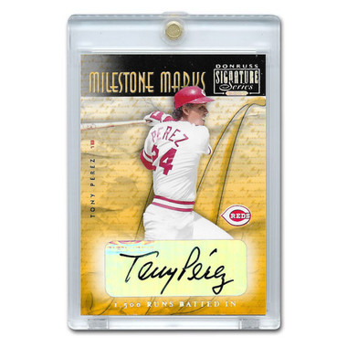 Tony Perez Autographed Card 2001 Donruss Signature Milestone Marks Ltd Ed of 146