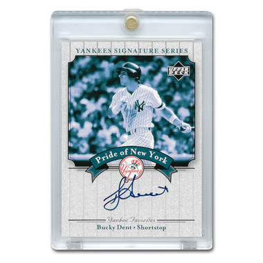 Bucky Dent Autographed Card 2003 Upper Deck Yankees Signature Series #PN-BD